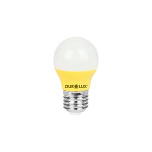 Lampada-Superled-S30-Bolinha-3W-Amarelo-Ourolux
